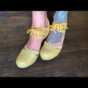 Lucky Penny yellow clogs